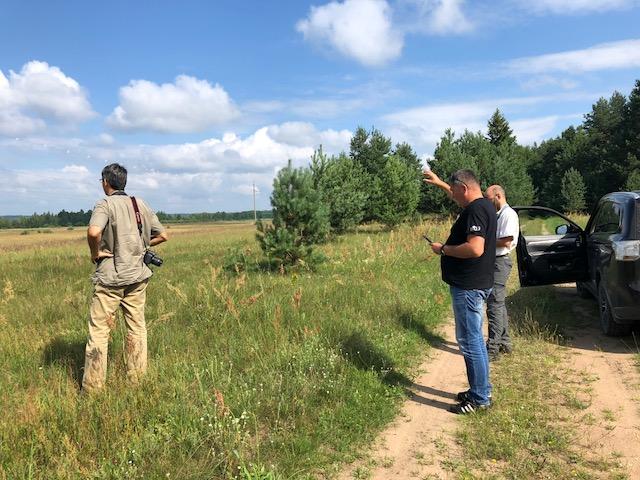 BirdLife representatives visited project territory near Kretuonas lake