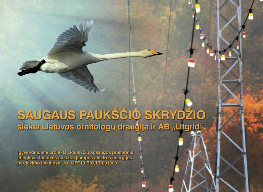 """Išleistas 2016 metų projekto kalendorius – """"Saugaus paukščio skrydžio siekia Lietuvos ornitologų draugija ir AB """"Litgrid"""""""