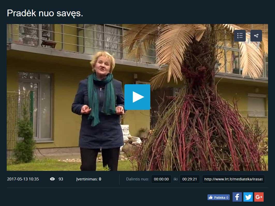 Projekto filmas parodytas per nacionalinę televiziją
